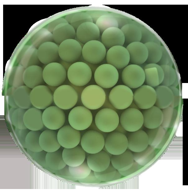 Svaka kap Rosalique kreme ima na stotine zelenih mikro kuglica koje sadrže pigment boje kože